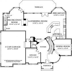 ground floor of Fincastle plan showing living areas