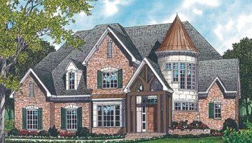 front rendering of Fincastle home